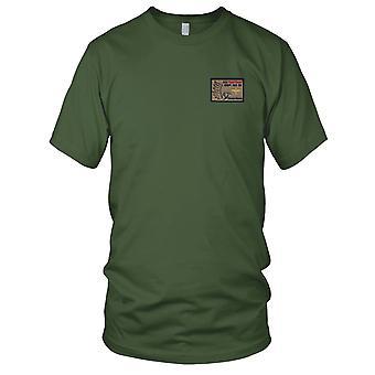 A selskapet 2916th luftfart bataljon ørkenen Hawks brodert Patch - krok og Loop Mens T-skjorte
