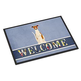 Carolines Treasures  BB5680MAT Whippet Welcome Indoor or Outdoor Mat 18x27