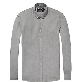 Scotch & Soda Longsleeve Shirt In Dobby Patterns