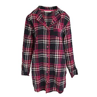 Forever Dreaming Womens/Ladies Madras Checked Button Up Nightshirt