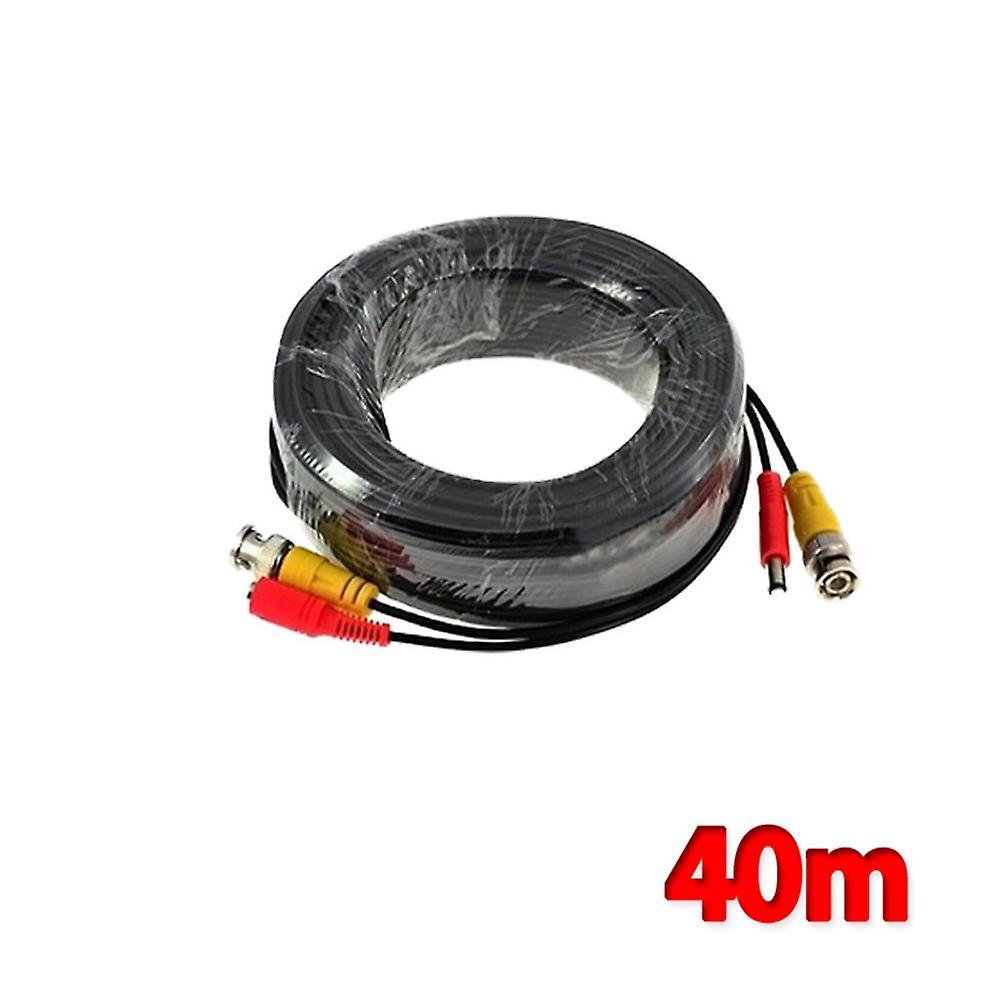 Kabalo 40m BNC Cable for CCTV Camera  DVR Video Power Security Surveillance Black