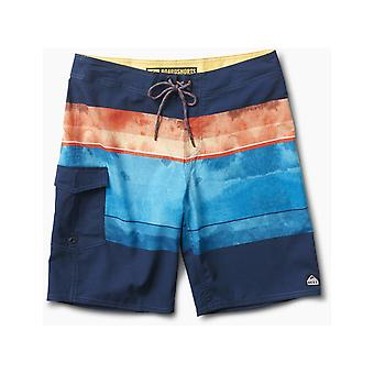 Reef Farwell Mid Length Boardshorts in Navy