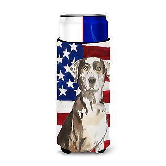 Patriotische USA Catahoula Leopard Dog Michelob Ultra Hugger für schlanke Dosen