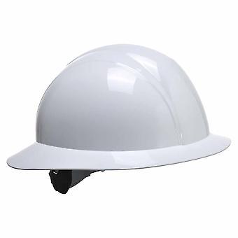 Portwest - sivuston turvallisuuden työvaatteet Full lieri tulevaisuudessa kypärä kypärä valkoinen