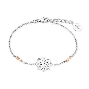 s.Oliver joia Senhoras prata pulseira bicolor tão pura flor 2017218