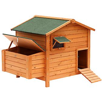 Pawhut Wooden Chicken Coop Hen House Poultry House Small Animal Cage Nesting Box Backyard 134.5 x 90 x 99.5 cm