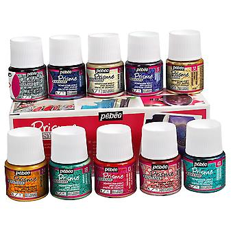 Fantasy de Pebeo Prisme pintura colores surtidos caja Set 10 x 45ml