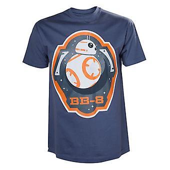 Star Wars VII The Force Awakens Adult Male BB-8 Astromech Droid and Stars T-Shirt Small Blue (nr modelu. TS204401STW-S)