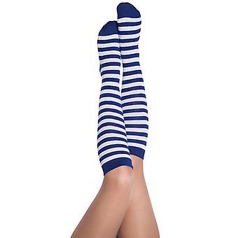 Chaussettes de longueur 35 cm accessoire bleu/blanc Oktoberfest