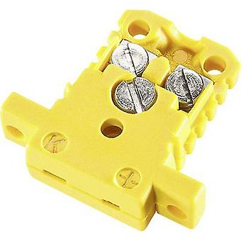 B - B Thermo-Technik Miniature Coupler Socket K-type, NiCrNi jaune