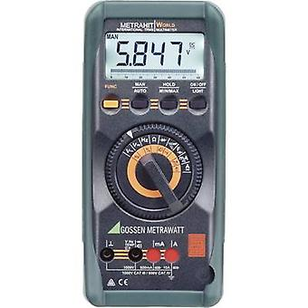 Gossen Metrawatt METRAHIT WORLD Handheld multimeter Calibrated to (DAkkS standards) Digital CAT III 1000 V, CAT IV 600 V Display (counts): 6000