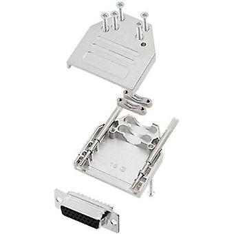 encitech DTZI15-HDS26-K 6355-0080-12 D-SUB pin strip set 180 ° Number of pins: 26 Solder bucket 1 Set
