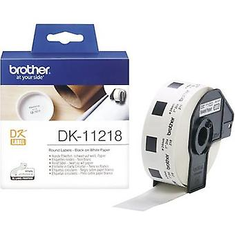 Brother DK-11218 Label roll Ø 24 mm Paper White 1000 pc(s) Permanent DK11218 All-purpose labels