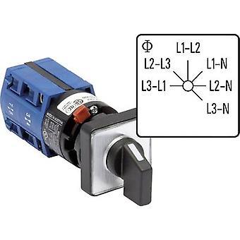 Kraus & Naimer CG4 A025-620 FS2 Voltmeter changeover switch 10 A Grey, Black 1 pc(s)