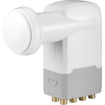 Goobay Universal Octo LNB No. of participants: 8 LNB feed size: 40 mm gold-plated terminals, with switch