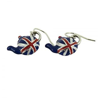 Union Jack Wear Union Jack Tea Pot Earrings