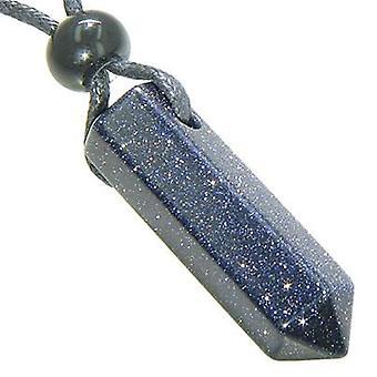 Onnekas Crystal kohta riipus kaulakoru Blue Gold kivi jalokivi
