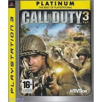 Call of Duty 3 Game Platinum PS3 Game