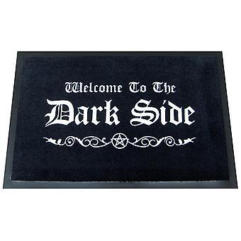 Tervetuloa pimeälle puolelle lattialla matto, valmistettu 100 % polyamidi- ja luistamaton PVC pohja