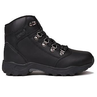 Gelert Kids Leather Walking Boots Metal D Rings Lace Up Outdoor Childrens Boys