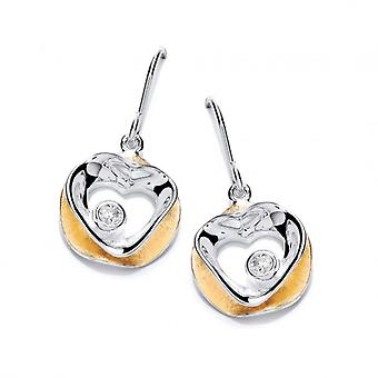 Cavendish French 'Circled Love' Gold Vermeil and Silver Earrings