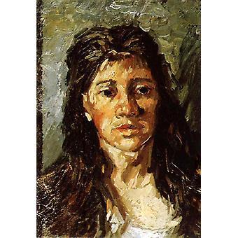 Изучение Портрет женщины, Винсент Ван Гог, 40x60cm