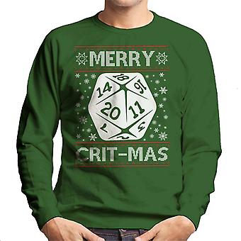 Dungeons And Dragons frohe Critmas Weihnachten Stricken Muster Herren Sweatshirt