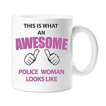 To, co niesamowite policji kobieta wygląda jak kubek