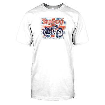 Triumph - Best Motorcycle In The World - British Flag Mens T Shirt