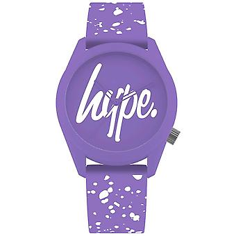Hype | Womens Purple And White Silicone Strap | Purple Dial | HYL001VW Watch