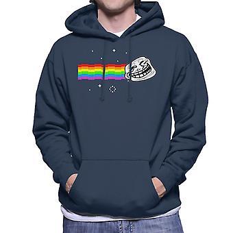 Troll gezicht Nyan Cat Meme mannen Hooded Sweatshirt
