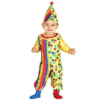 Toddlers Baby Clown Fancy Dress Costume