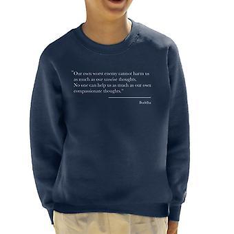 Mindfulness Boeddha meelevende gedachten offerte Kid's Sweatshirt