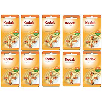 40-pack Kodak Zinc-Air Hearing Aid Batteries 13, A13, PR48,  Orange Colour