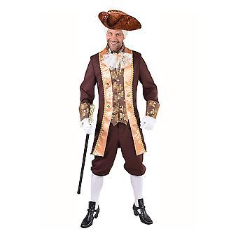 Mannen kostuums markies bruin kostuum voor mannen