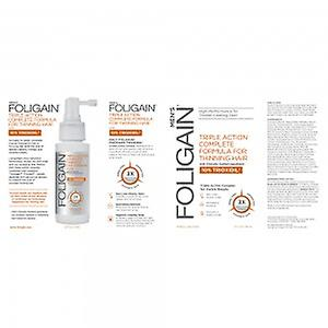 Foligain Trioxidil Solution For Him - Spray For Thinning Hair -Triple Action Complete Formula with 10 Per Cent Trioxidil to support hair growth