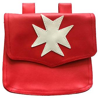 Knights Malta Alms Bag Red