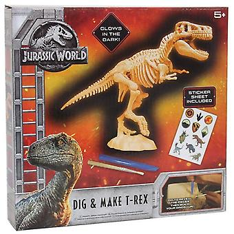Jurassic World graven en T-Rex Kit maken