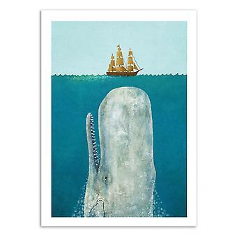 Kunst-poster-de walvis-Terry fan 70 x 100 cm
