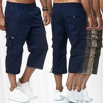Men's Cargo Shorts -3/4 pantaloni casual slip-on 7/8 cargo 2 lunghezze