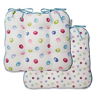Cooksmart Spotty Dotty Set of 2 Seat Pads