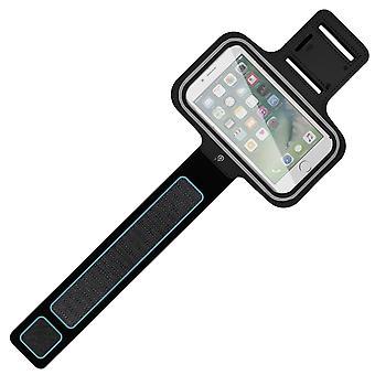 Urheilu käsi varsi nauha älypuhelin Rainproof asia Touch ikkuna säädettävä hihna musta