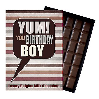 Geburtstagsgeschenk für junge Sohn Luxus verpackt Schokolade GrußKarte geschenk für Mann YUM113