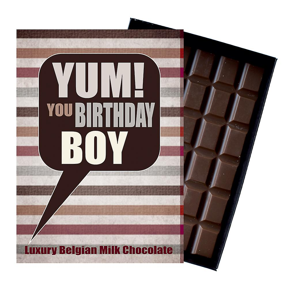 Birthday Gift for Boy Son Luxury Boxed Chocolate Greetings Card Present for Man YUM113