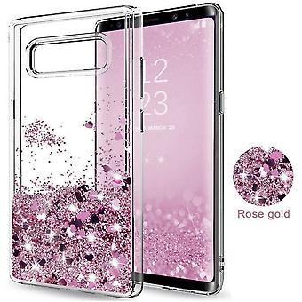 Galaxy S7-Floating Glitter 3d Bling Shell Fall