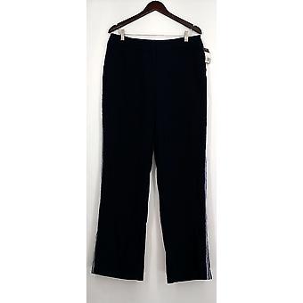 Mossimo Pants Side Striped Button & Zipper Closure Blue Womens