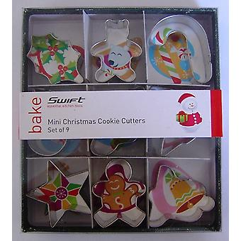 Swift Set of 9 Mini Christmas Cookie Cutters