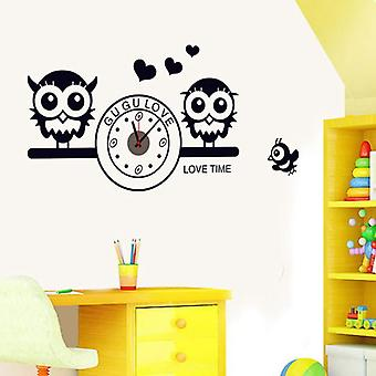 Wellindal adhesive vinyl Owl Clock (Babies and Children , Toys , Others)
