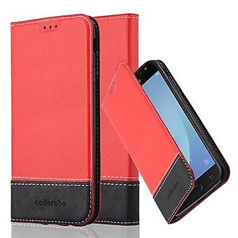 Cadorabo case for Galaxy J3 2017 case case cover - phone case with magnetic clasp, stand function and card compartment – Case Cover Protective case Case Book Folding Style