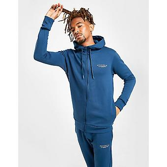 New McKenzie Men's Essential Zip Through Hoodie Blue